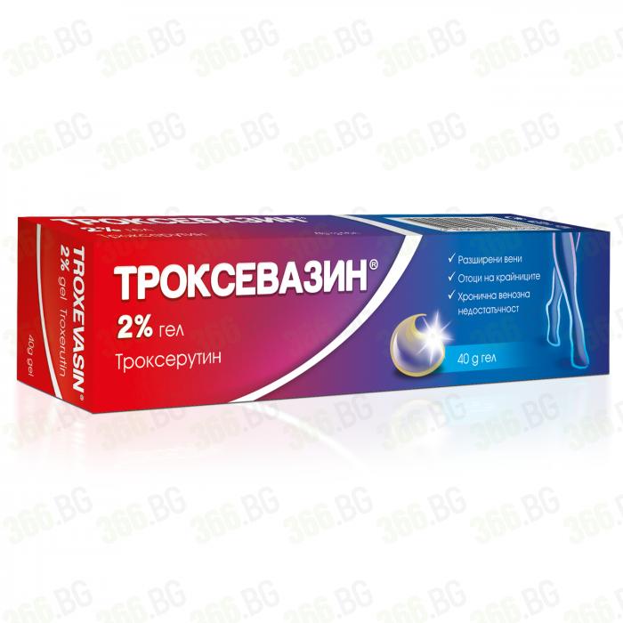 Троксевазин гел при разширени вени 2% 40 грама - Actavis